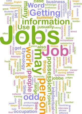 immigration: Background concept illustration of jobs work employment