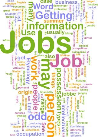 Hintergrund Konzept Illustration Jobs-Work-Beschäftigung