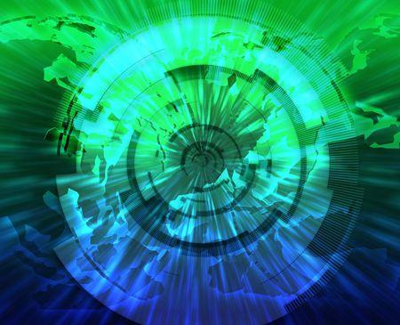 Global internet broadband data information communications technology concept illustration illustration