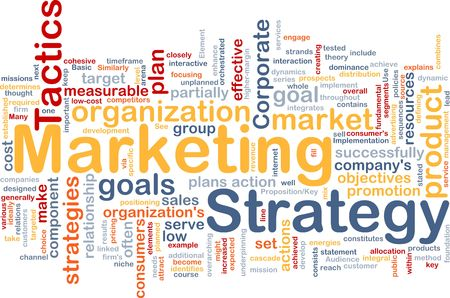 cohesive: Word cloud concept illustration of marketing strategy