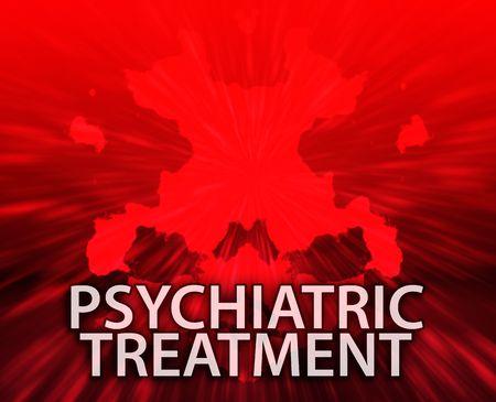 psychiatrique: Un traitement psychiatrique sant� mentale rorschach inkblot concept arri�re-plan.