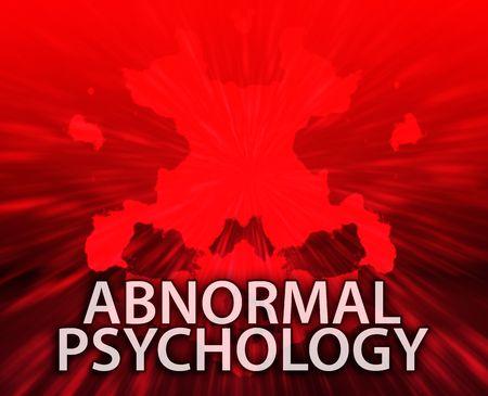 psychiatrique: Un traitement psychiatrique abnormal psychologie rorschach inkblot concept arri�re-plan.