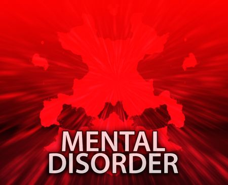 psychiatrique: Un traitement psychiatrique troubles mentaux rorschach inkblot concept arri�re-plan.