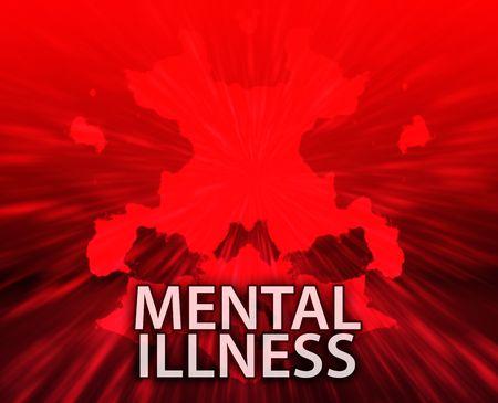 n�vrose: Un traitement psychiatrique maladie mentale rorschach inkblot concept arri�re-plan.