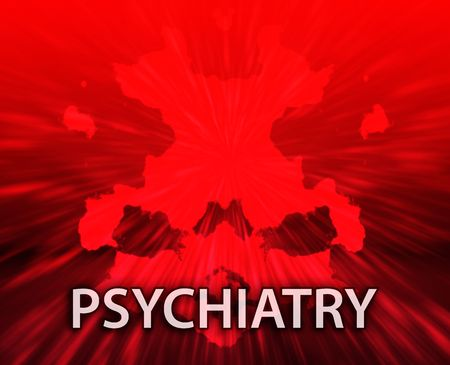 psychiatric: Psychiatric treatment psyrchiatry rorschach inkblot concept backgroun