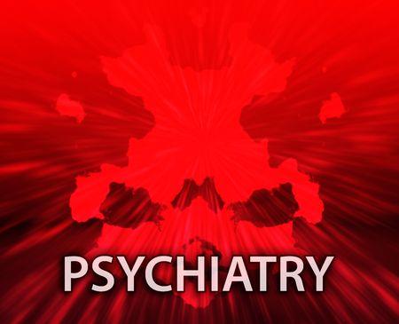 psychiatrique: Un traitement psychiatrique psyrchiatry rorschach inkblot concept backgroun.  Banque d'images