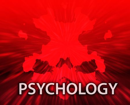 medical evaluation: Psychiatric treatment psychology rorschach inkblot concept background