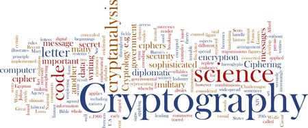 Word cloud concept illustration of cryptography encryption Stock Illustration - 6203283