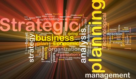 strengths: Software package box Word cloud concept illustration of strategic planning