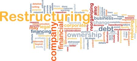 Word cloud concept illustration of company restructuring Stock Illustration - 6210300