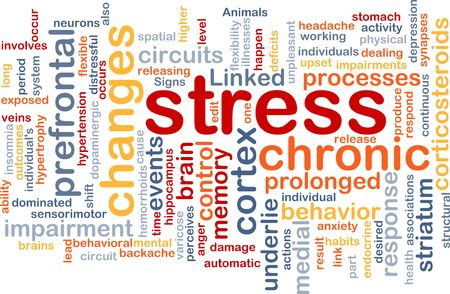 illness: Background concept wordcloud illustration of chronic mental stress