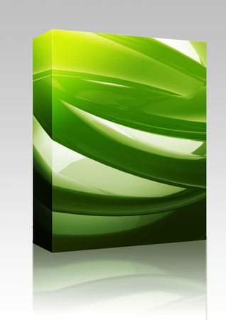 arcs: Software package box Abstract wallpaper background illustration of smooth flowing colors