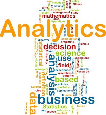 predictive: Illustrazione del concetto sfondo di analisi di business analytics