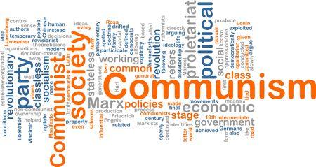exploited: Word cloud concept illustration of comunism economy Stock Photo