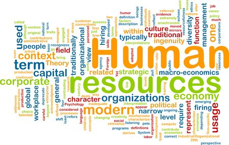 corporate culture: Background concept illustration of human resources management