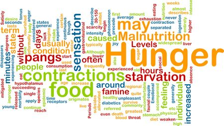 contractions: Background concept illustration of hunger malnutrition starvation Stock Photo