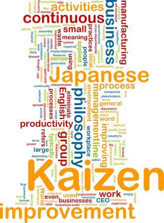 Word cloud concept illustration of kaizen improvement illustration