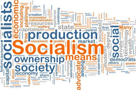 egalitarian: Word cloud concept illustration of socialism economy