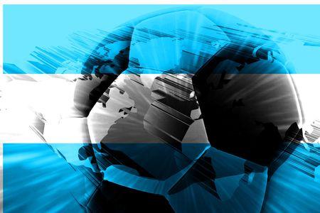 argentinian flag: Flag of Argentina, national symbol illustration clipart sports soccer football Stock Photo