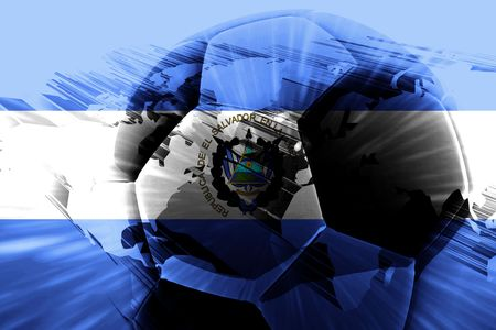 el salvador flag: Flag of El Salvador, national country symbol illustration sports soccer football