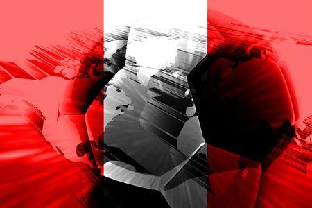 bandera peru: Bandera de Per�, pa�s nacional s�mbolo ilustraci�n deportes f�tbol F�tbol