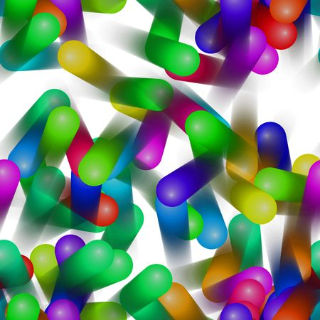 jellybean: colorful moving  dynamic flying fruit jellybean background design Stock Photo