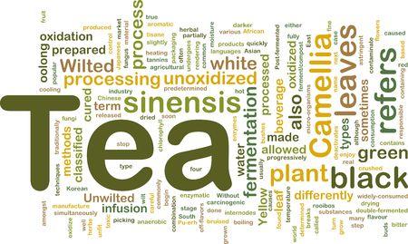 oolong: Background concept illustration of tea beverage drink