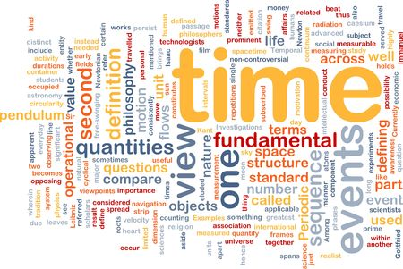 Background concept wordcloud illustration of Time events structure Stock Illustration - 6243393