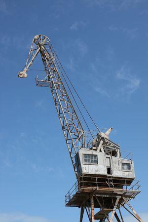 Maritime crane, seaside dockyard logistics transportation equipment photo