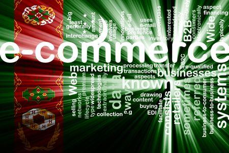 Flag of Turkmenistan, national country symbol illustration internet e-commerce Stock Illustration - 6248127
