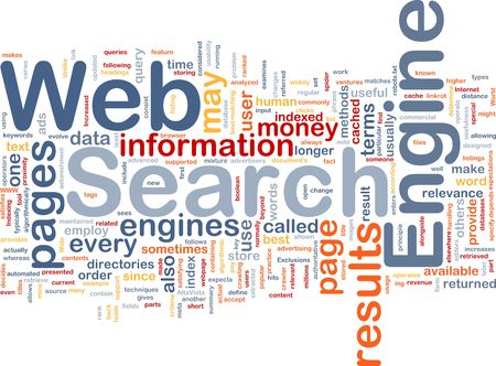 Background concept wordcloud illustration of internet search engine Stock Illustration - 6248008