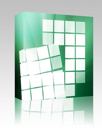 massive: Software package box Abstract wallpaper illustration of geometric square shapes