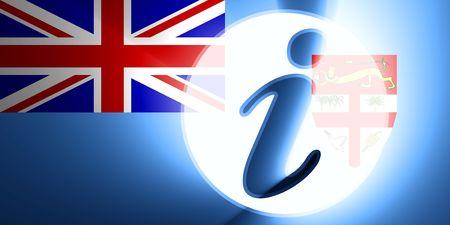 fiji: Flag of Fiji, national country symbol illustration information help