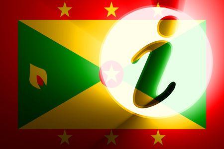 grenada: Flag of Grenada, national country symbol illustration information help Stock Photo