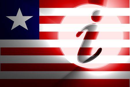 Flag of Liberia, national country symbol illustration information help illustration