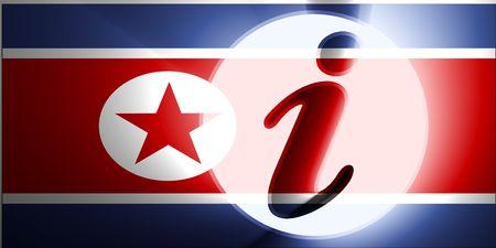 Flag of North Korea, national country symbol illustration information help Stock Illustration - 6279127