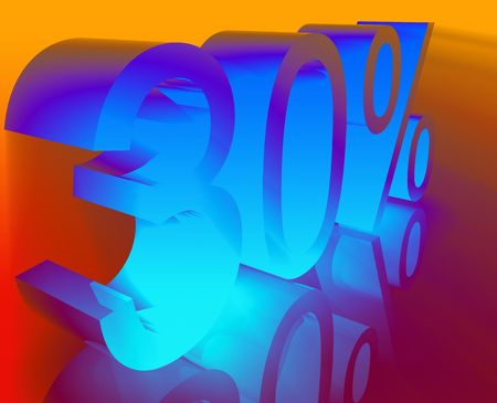thirty: Thirty 30 percent discount sale price reduction promotion background  Stock Photo