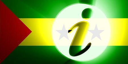 principe: Bandera de Santo Tom� y Pr�ncipe, ayuda de informaci�n de ilustraci�n de s�mbolo nacional de pa�s