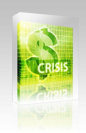 Software package box Software package box Crisis Finance illustration, dollar symbol over financial design illustration