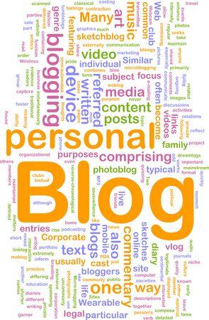 Background concept illustration of internet web blog Stock Photo