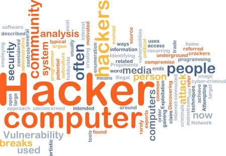 vulnerability: Background concept illustration of computer hacker attack