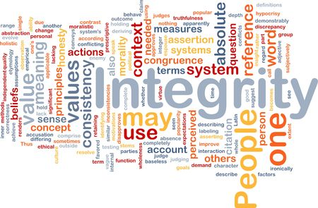 popularity: Background concept wordcloud illustration of integrity principles values Stock Photo