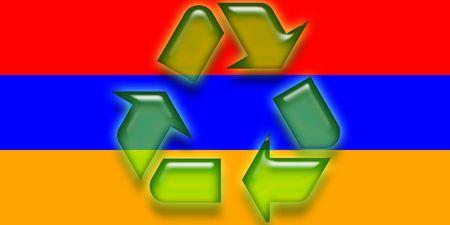 armenian: Flag of Armenia, national symbol illustration clipart eco recycling