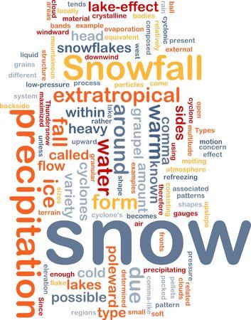 precipitaci�n: Ilustraci�n de wordcloud de concepto de fondo de nevadas de precipitaci�n de nieve Foto de archivo