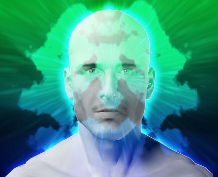 psychiatrique: Un traitement psychiatrique m�le sant� mentale rorschach inkblot concept