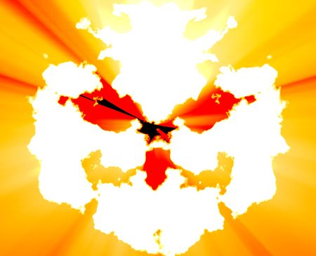 inkblot: Psychiatric treatment mental health rorschach inkblot concept background