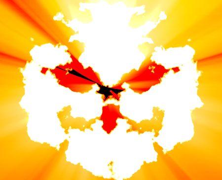 n�vrose: Un traitement psychiatrique sant� mentale rorschach inkblot concept arri�re-plan.