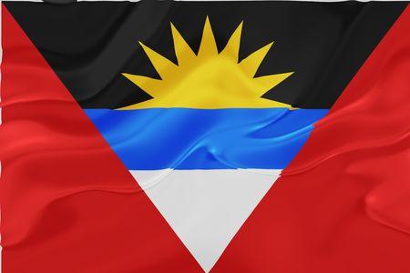 antigua: Flag of Antigua national country symbol illustration wavy fabric Stock Photo