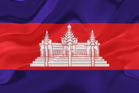 cambodian: Flag of Cambodia, national symbol illustration clipart wavy fabric