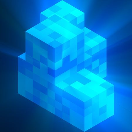 Abstract cube structure technology corporate organization concept background glowing light photo